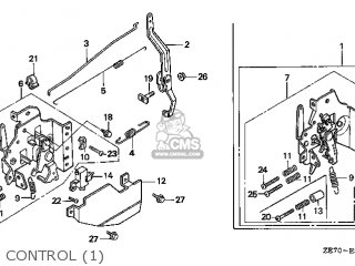 Honda GXV160\SFCA\14ZE70E8 parts lists and schematics