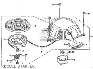 Honda GXV50\VU_A\14ZN40E5 parts lists and schematics
