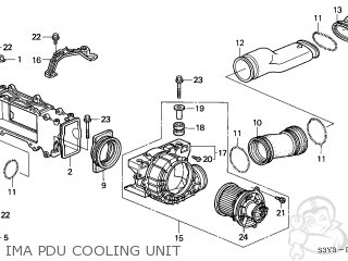Honda INSIGHT 2000 (Y) 3DR DX A/C (KA) parts lists and