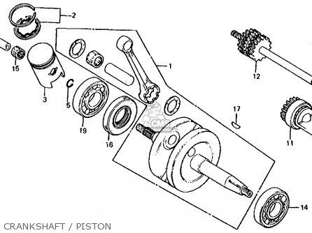 Honda Mb50 1982 Mb-5 (usa) parts list partsmanual partsfiche