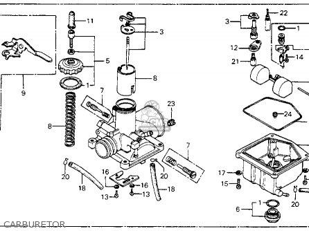 Honda Mr175 Elsinore 1975 K0 Usa parts list partsmanual