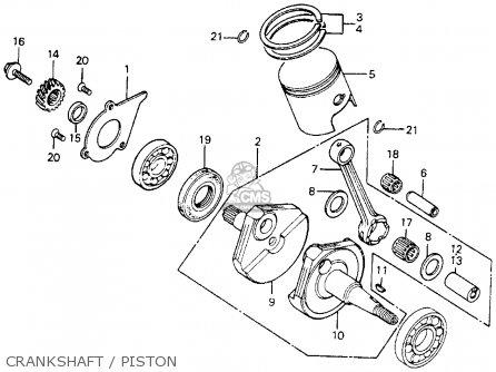 Honda Mr175 Elsinore 1976 Usa parts list partsmanual