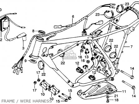 Honda MR250 ELSINORE 1976 USA parts lists and schematics