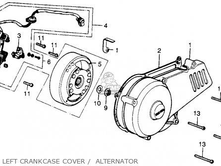 Honda MR250 ELSINORE 1976 USA parts lists and schematics