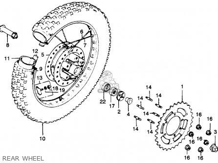 Honda Mr250 Elsinore 1976 Usa parts list partsmanual