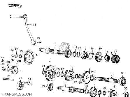 Honda MR50 ELSINORE 1975 K1 USA parts lists and schematics