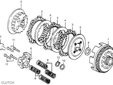 Honda Mr50 Elsinore K1 1975 Usa parts list partsmanual