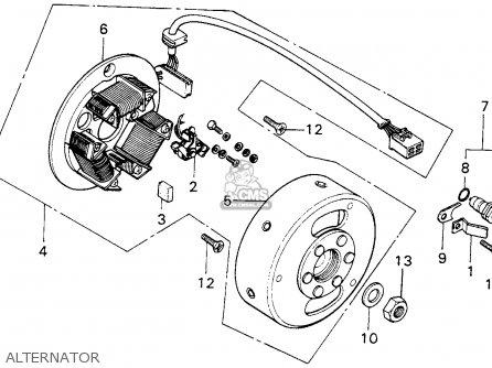 Honda MT125 ELSINORE 1976 USA parts lists and schematics