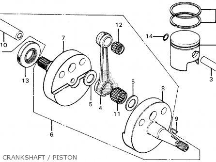 Honda Mt125 Elsinore 1976 Usa parts list partsmanual
