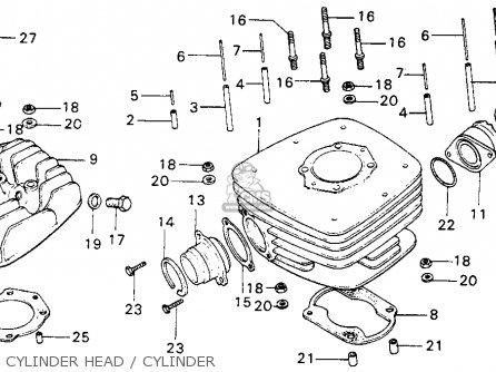 Honda Mt125 Elsinore K0 1974 Usa parts list partsmanual