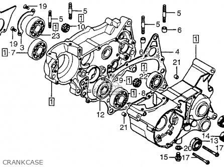 Honda MT125R ROADRACER 1977 USA parts lists and schematics
