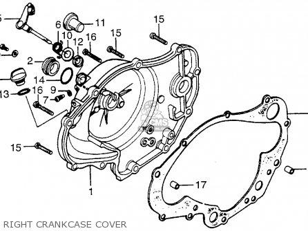 Honda Mt125r Roadracer 1977 Usa parts list partsmanual