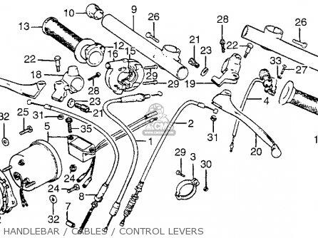 Honda MT125RII ROADRACER 1978 USA parts lists and schematics