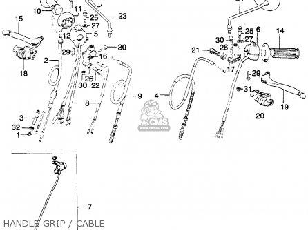Honda Mt250 Elsinore 1974 K0 Usa parts list partsmanual