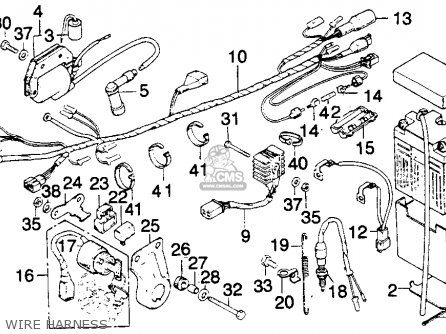 Honda MT250 ELSINORE 1974 K0 USA parts lists and schematics