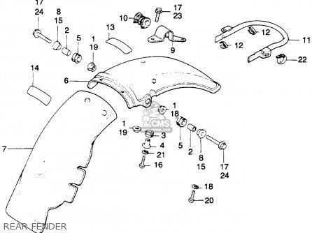 Honda MT250 ELSINORE 1975 K1 USA parts lists and schematics