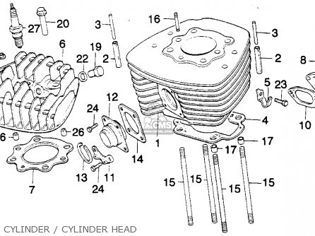 Honda MT250 ELSINORE 1976 USA parts lists and schematics