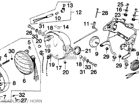 Honda MT250 ELSINORE 1976 USA parts lists and schematics