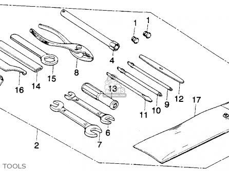 Honda Mt250 Elsinore 1976 Usa parts list partsmanual