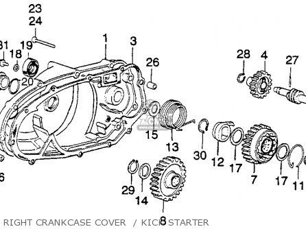 Honda Mt250 Elsinore K0 1974 Usa parts list partsmanual