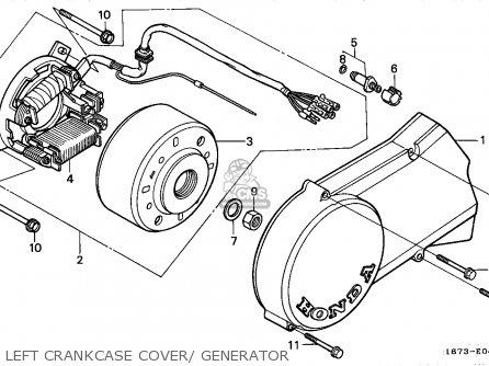 Honda Mt50f 1990 (l) European Direct Sales parts list