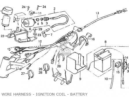 Honda MT50S 1984 (E) ENGLAND parts lists and schematics