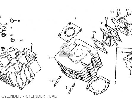 Honda Mt50sa 1980 (germany) parts list partsmanual partsfiche