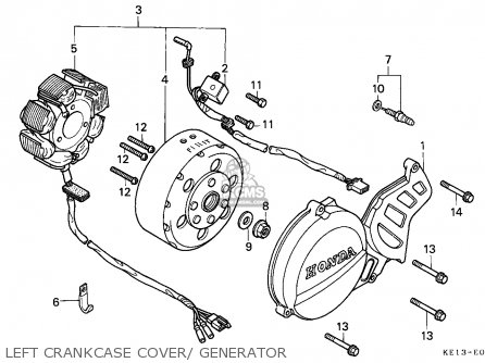 Honda MTX125RW 1983 (D) BELGIUM parts lists and schematics