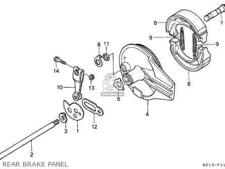 Honda Mtx125rw 1984 (e) Switzerland parts list partsmanual
