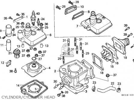 Honda MTX125RW 1985 (F) ENGLAND parts lists and schematics