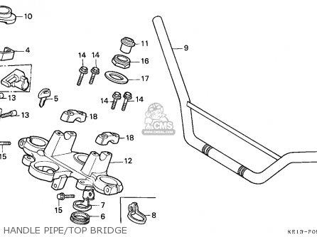 Honda MTX125RW 1987 (H) FRANCE / YB 15P parts lists and