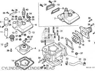 Honda Mtx125rw 1990 England parts list partsmanual partsfiche