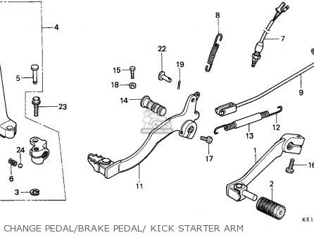 Honda Mtx125rw 1990 (l) England parts list partsmanual