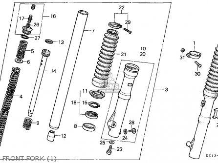 Honda MTX200RW 1983 (D) ENGLAND parts lists and schematics