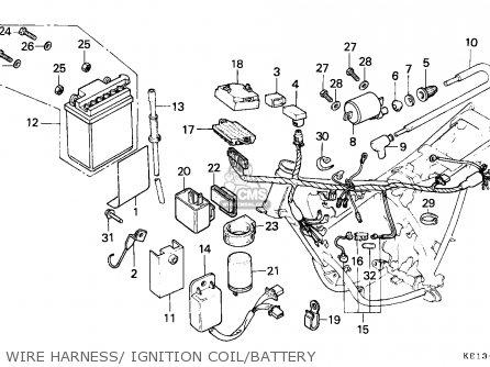 Honda Mtx200rw 1985 England parts list partsmanual partsfiche