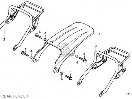 Honda MTX200RW 1985 (F) FRANCE / YB parts lists and schematics