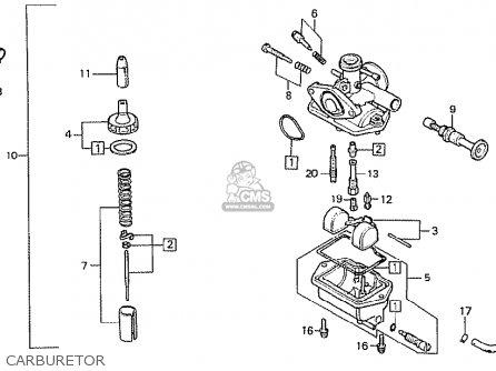 Honda Mtx50rff Belgium parts list partsmanual partsfiche