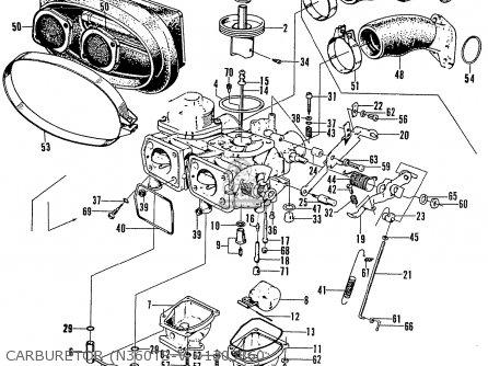 Honda N360 Coupe Stationwagon parts list partsmanual