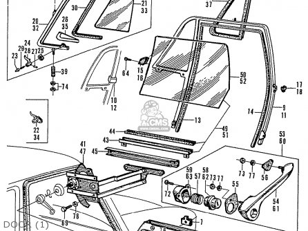 Honda N400 COUPE STATIONWAGON parts lists and schematics
