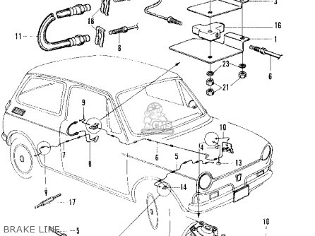 Honda N600 Sedan 1971 2dr (ka) parts list partsmanual