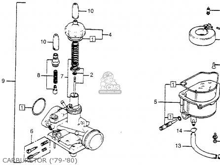 Honda Na50 Express Ii 1979 Usa parts list partsmanual