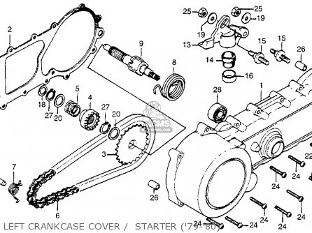 Honda Na50 Express Ii 1979 Usa Left Crankcase Cover