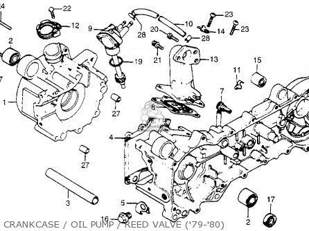 Honda Na50 Express Ii 1980 Usa Crankcase Oil Pump Reed