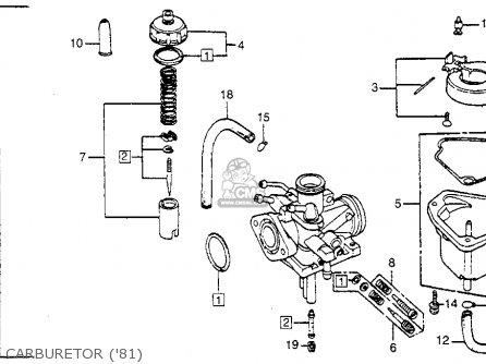 Honda Na50 Express Ii 1981 Usa parts list partsmanual