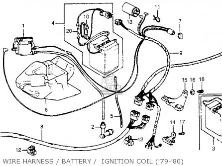 Honda NA50 EXPRESSII 1979 (Z) USA parts lists and schematics