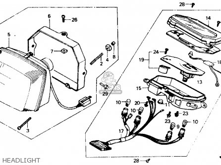 Honda NB50 AERO 50 1986 (G) USA parts lists and schematics