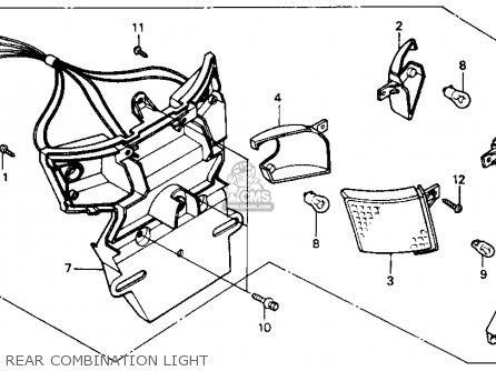 Honda NB50 AERO 50 1986 (G) USA parts lists and schematics