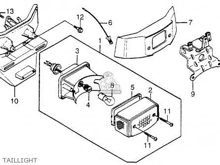 Honda Nb50m Aero 50 1983 (d) Usa parts list partsmanual partsfiche