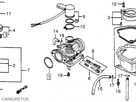 Honda Nb50m Aero 50 1983 Usa parts list partsmanual partsfiche