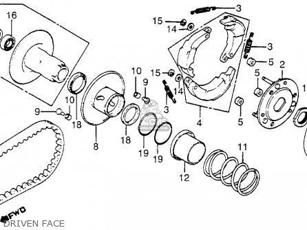 Honda Nb50m Aero 50 1984 (e) Usa parts list partsmanual